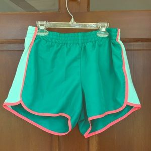 Danskin mint green athletic shorts line w pink